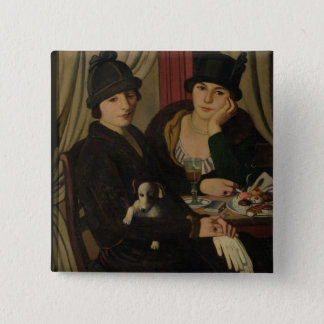 Women in a Cafe, c.1924 Pinback Button