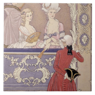 Women in a Theater Box, illustration from 'Les Lia Tile