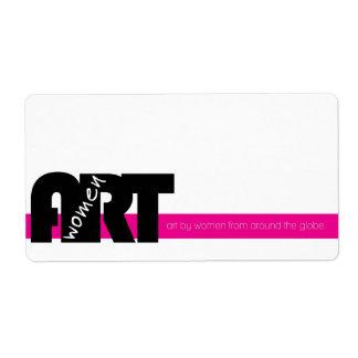 Women in Art: Sticker Label
