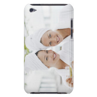 Women in bathrobes drinking tea at spa Case-Mate iPod touch case