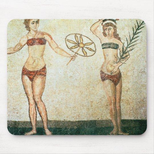 Women in 'bikinis' mouse pad