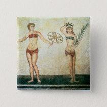 Women in 'bikinis' pinback button