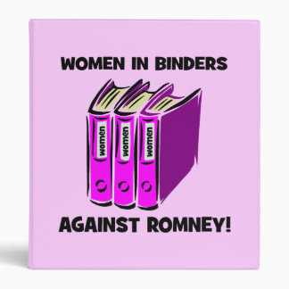 women in binders against Romney