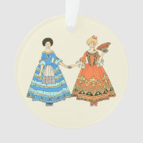 Women In Blue and Red Costumes Holding Hands at Zazzle