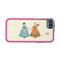 Women In Blue and Red Costumes Holding Hands iPhone 5 Covers at Zazzle