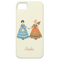 Women In Blue and Red Costumes Holding Hands iPhone 5/5S Covers at Zazzle