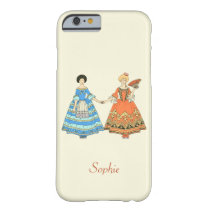 Women In Blue and Red Costumes Holding Hands iPhone 6 Case at Zazzle