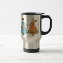 Women In Blue and Red Costumes Holding Hands Mug at Zazzle