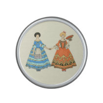 Women In Blue and Red Costumes Holding Hands Speaker at Zazzle