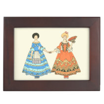 Women In Blue and Red Costumes Holding Hands Memory Boxes at Zazzle
