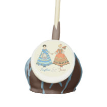 Women In Blue and Red Costumes Holding Hands Cake Pops at Zazzle