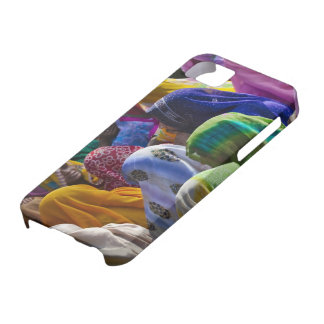 Women in colorful saris gather together iPhone 5 cases