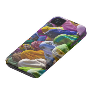 Women in colorful saris gather together iPhone 4 cases