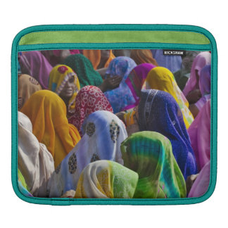 Women in colorful saris gather together iPad sleeve