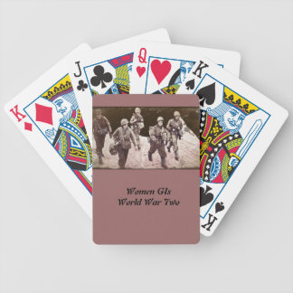Women in Combat Gear WWII Bicycle Playing Cards