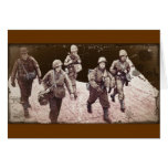 Women in Combat Gear WWII Greeting Cards