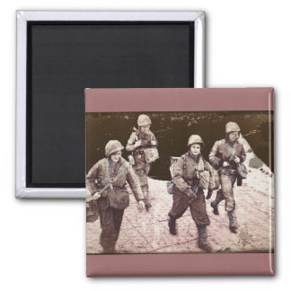 Women in Combat Gear WWII Magnet
