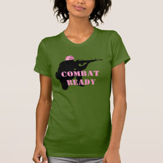 Women in Combat Pink Helmet T-Shirt