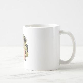 Women In Curles Classic White Coffee Mug