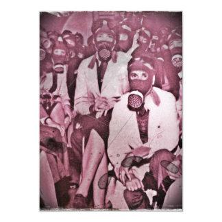 Women in Gas Masks Card