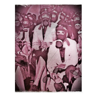 Women in Gas Masks Postcard