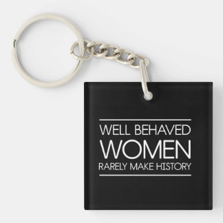 Women In History Single-Sided Square Acrylic Keychain