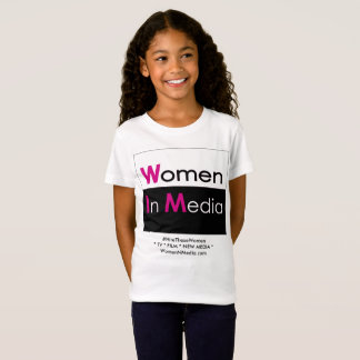 Women In Media Tee Shirt White for Grrrrrls