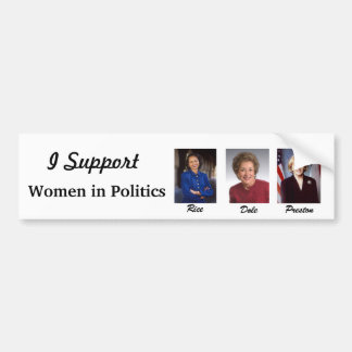 Women in Politics Bumper Stickers