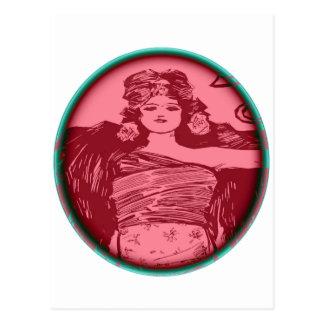 Women In red Postcard