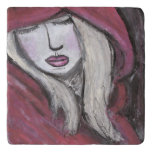 Women in Red Trivet (You can Customize)