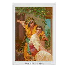 Women In The Bible - Martha And Mary Poster at Zazzle