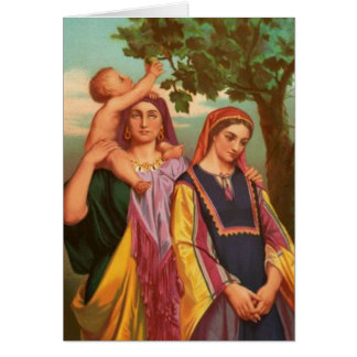 Women In The Bible - Rachel and Leah Card