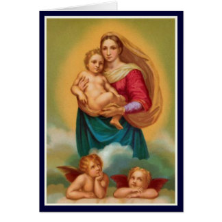 Women In The Bible - Sistine Madonna Card