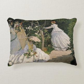 Women in the Garden, 1866 Accent Pillow
