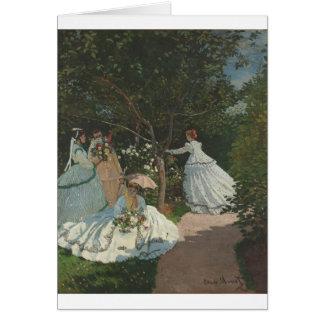 Women in the Garden (1866) Greeting Card