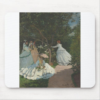 Women in the Garden (1866) Mouse Pad