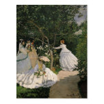 Women in the Garden, 1866 Postcard