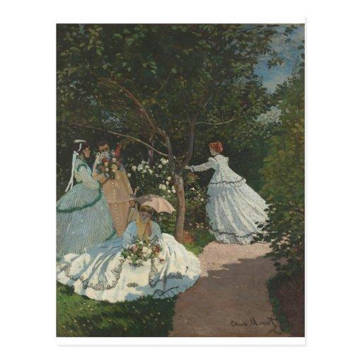 Women in the Garden (1866) Postcard