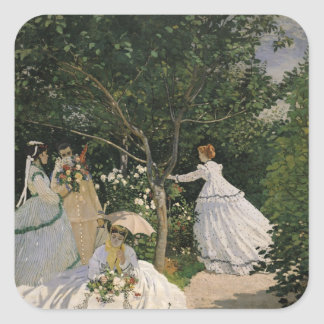 Women in the Garden, 1866 Square Sticker