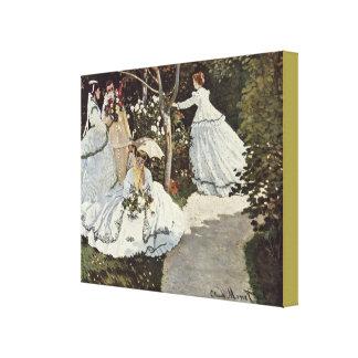 Women In The Garden by Claude Monet Canvas Print