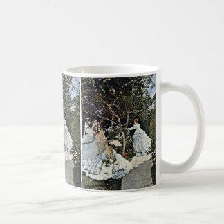 Women In The Garden By Claude Monet Coffee Mug