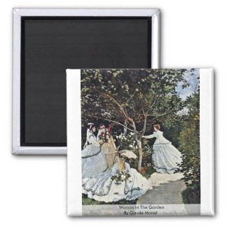 Women In The Garden By Claude Monet Magnet