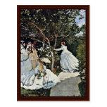 Women In The Garden By Claude Monet Postcard