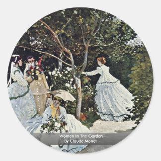 Women In The Garden By Claude Monet Classic Round Sticker