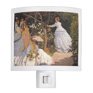 Women in the Garden by Monet Night Light