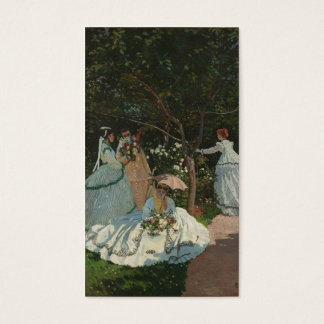 Women in the Garden - Claude Monet Business Card