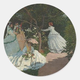 Women in the Garden - Claude Monet Classic Round Sticker