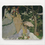 Women in the Garden, detail of a Seated Woman with Mouse Pad