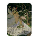 Women in the Garden, detail of a Seated Woman with Rectangular Photo Magnet