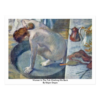 Women In The Tub Washing His Back By Edgar Degas Postcards